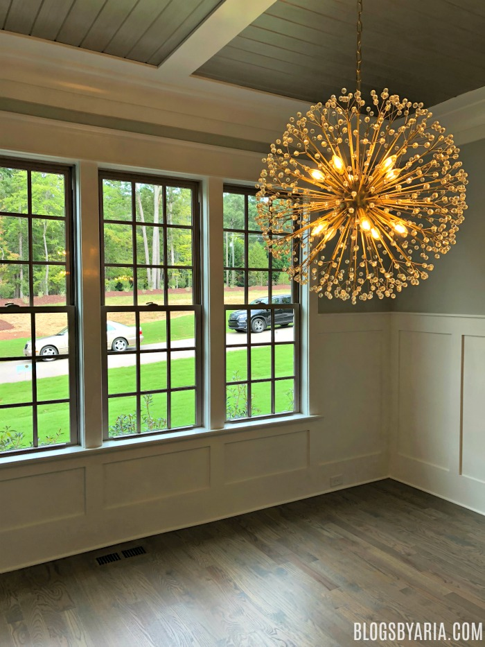 Starburst lighting dining room details