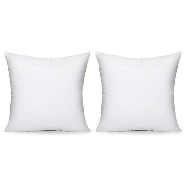 Acanva Hypoallergenic Pillow Insert Duo