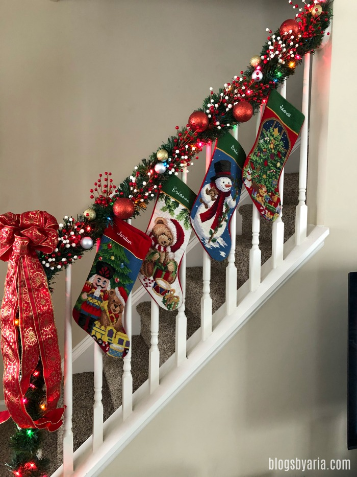 holiday home tour Christmas ornament garland