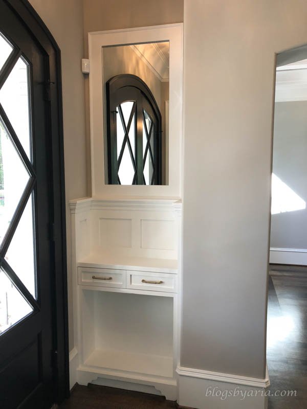 entryway station is perfect to check your hair as you dash out the door and is great to set mail or anything else needed at the front door