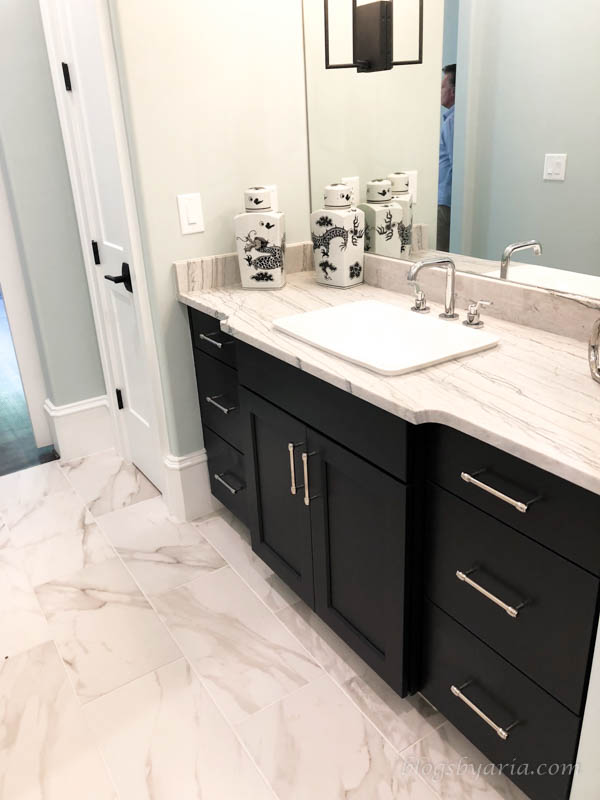 master bathroom his and hers