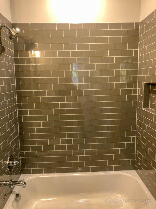 classic subway tile shower