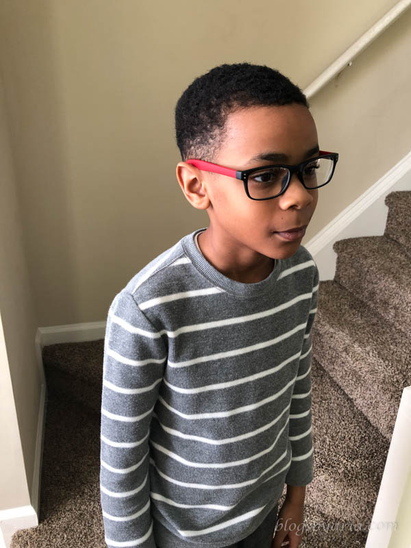 Jordan and his new glasses
