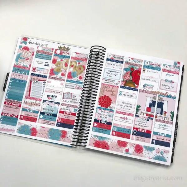 planner spread in my Erin Condren Life Planner featuring Little Miss Paperie #plannerspread #eclp #weeklyspread #plannerstickers
