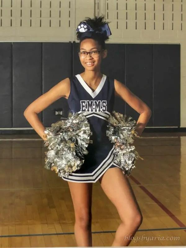 Brianna my cheerleader