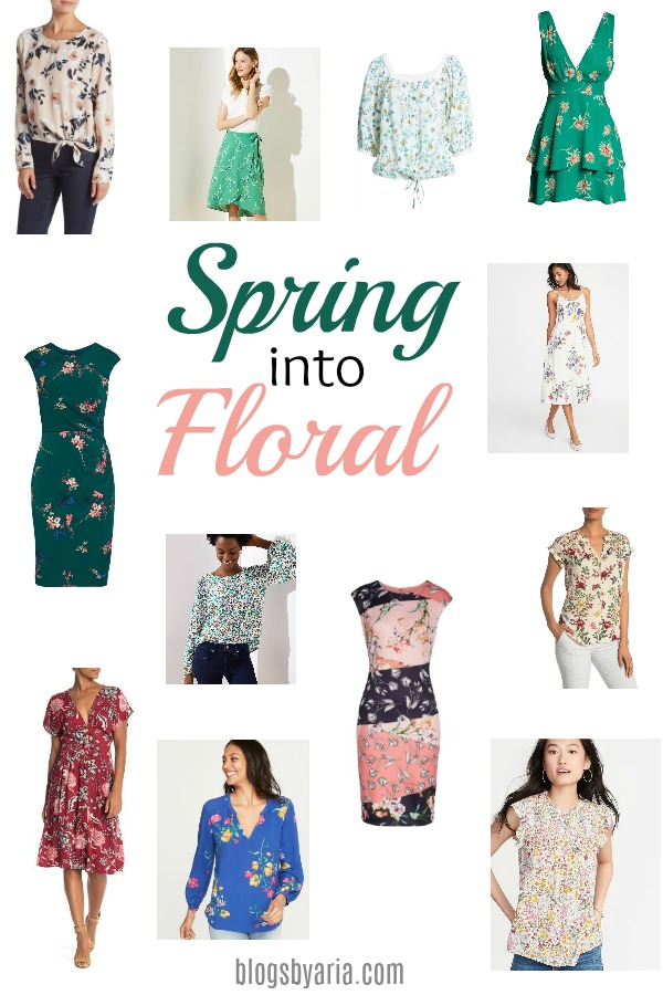 It's officially Spring! And Spring means bring on the florals!! I've rounded up a few cute floral looks to usher in Spring! #springfashion