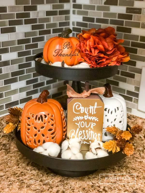 original pumpkin tiered tray