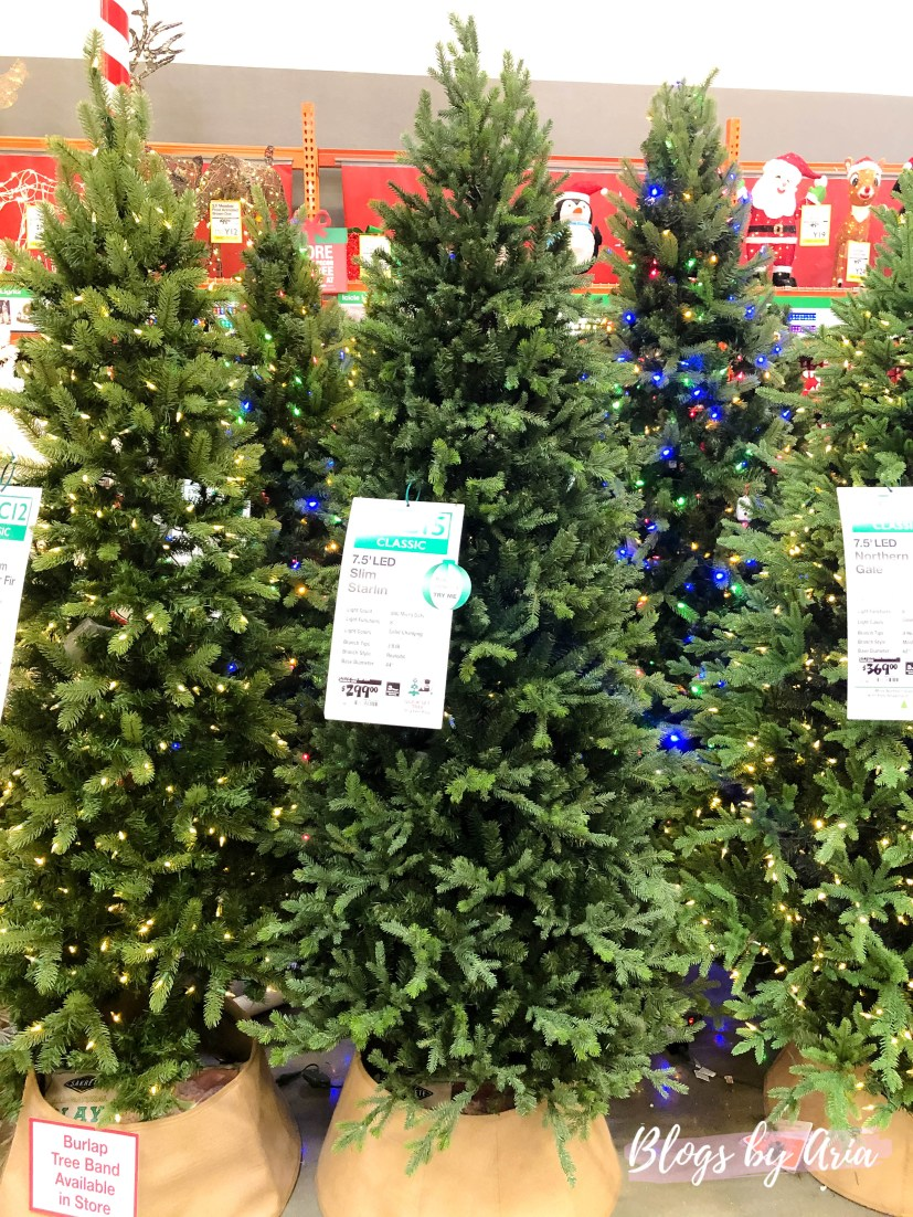 home depot Christmas trees