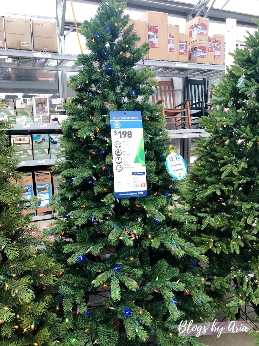 Lowe's Christmas trees