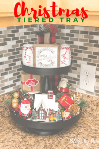 Christmas Tiered Tray