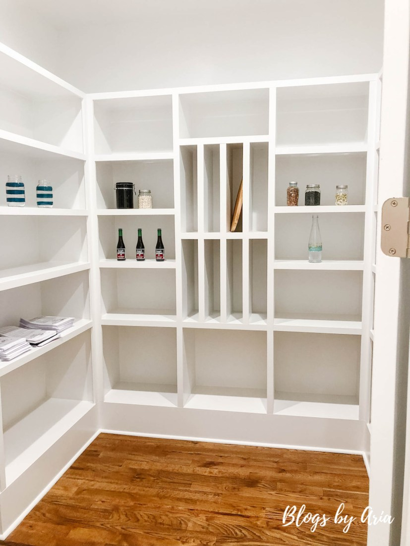 large walk in pantry storage organization