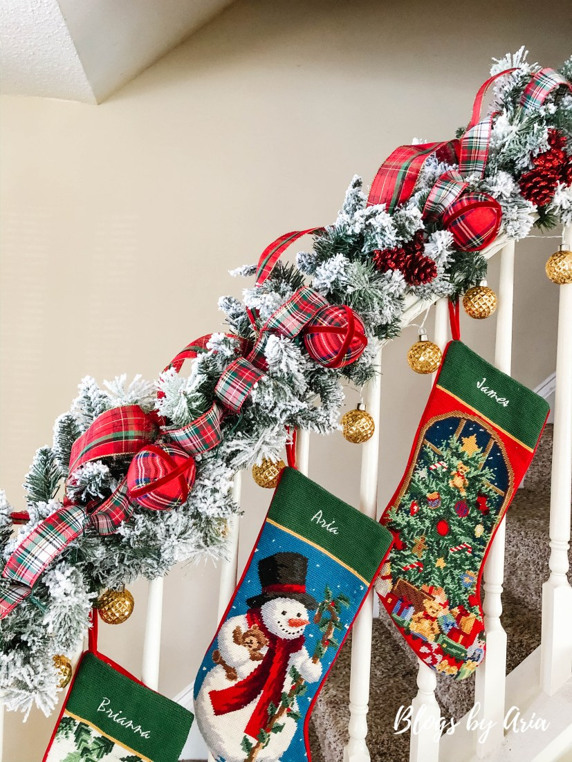 how to hang Christmas stockings without a fireplace