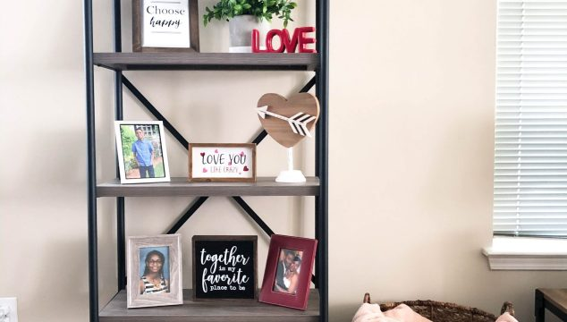 Valentine's Styled Shelf Decor