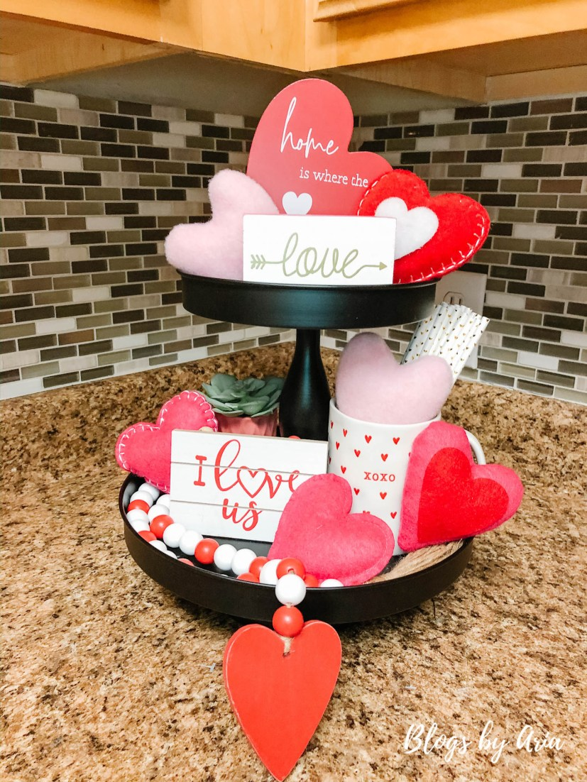 valentines tiered tray decor