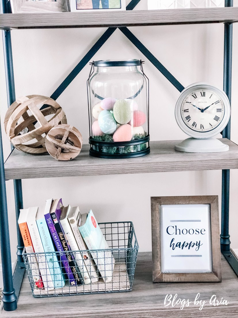 Easter Shelf Decor