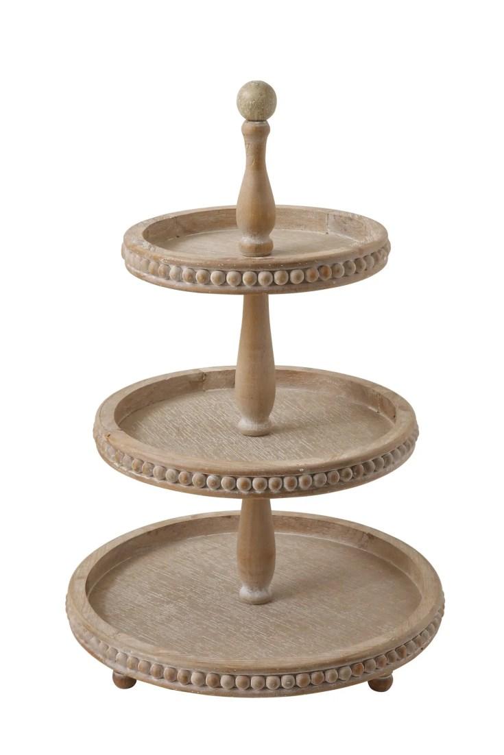 3 tiered beaded tray
