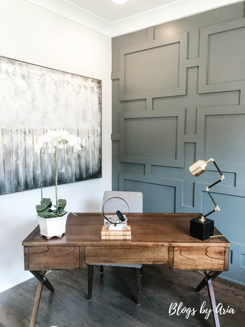 modern farmhouse glam office