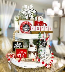 Christmas Tiered Tray Decor Inspiration
