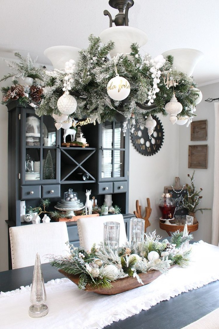 Christmas chandelier garland