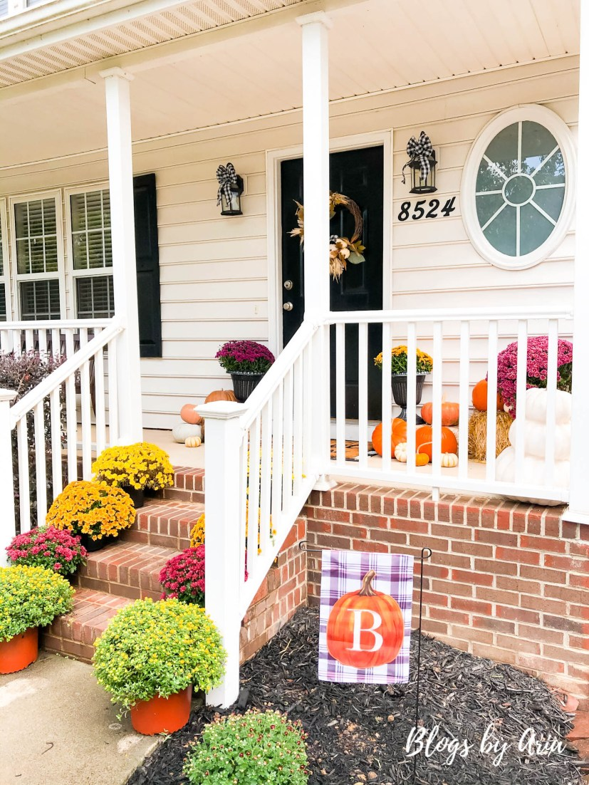 modern fall porch decor