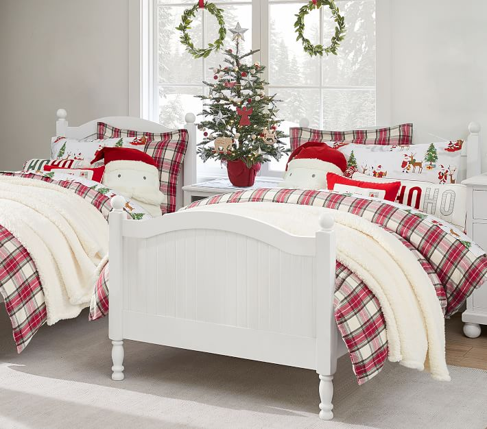 Pottery Barn Kids Plaid Flannel Holiday Bedding