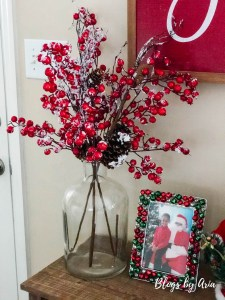 Christmas Entryway Table