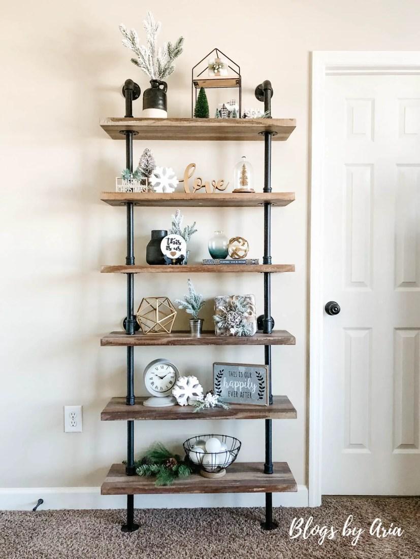 holiday shelf styling ideas