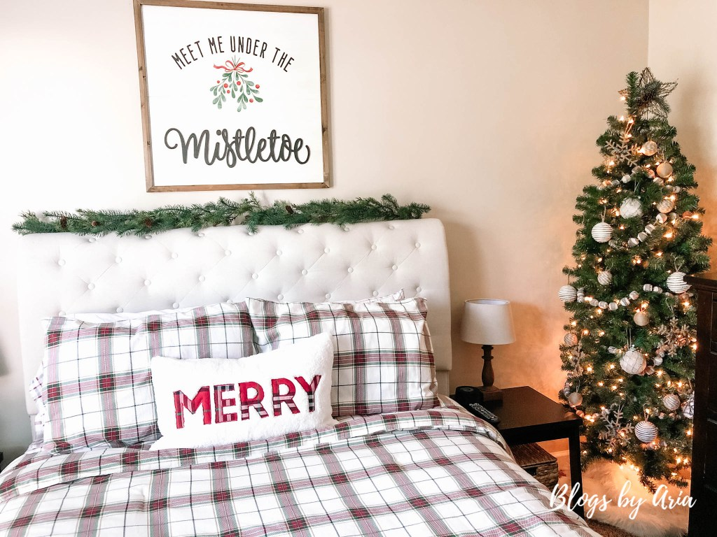 our Christmas master bedroom