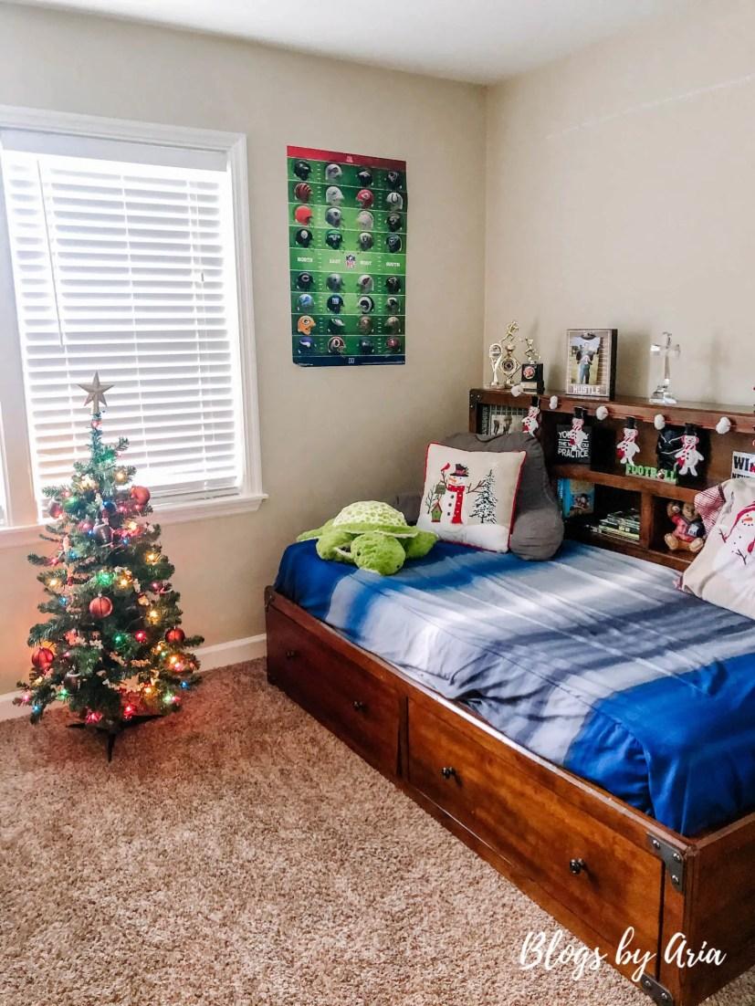 football themed boys bedroom