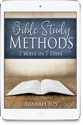 Enhance your Bible study time with Bible Study Methods - 7 Ways in 7 Days