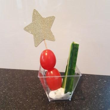 tomaat komkommer kerstdiner