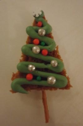 kerstboom van ontbijtkoek
