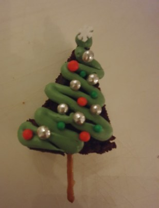 kerstboom van brownie