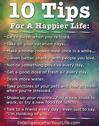 10 Tips For Happier Life