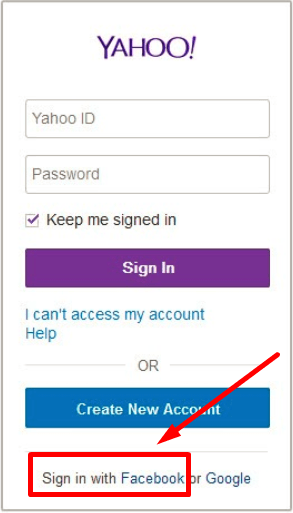 How Can I Sign In To Yahoo Mail Through Facebook 2020
