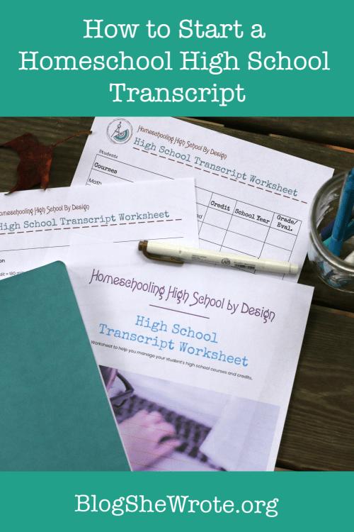 small resolution of How to Start a Homeschool High School Transcript - Blog
