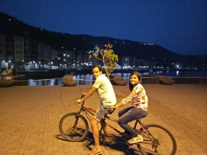 cycling with hubby
