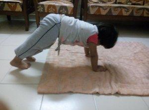 Little Kid Doing Yoga