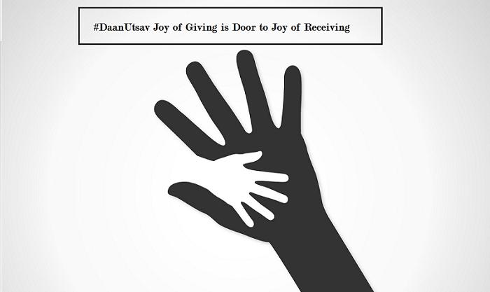 Joy In Giving: #DaanUtsav Joy Of Giving Is Door To Joy Of Receiving
