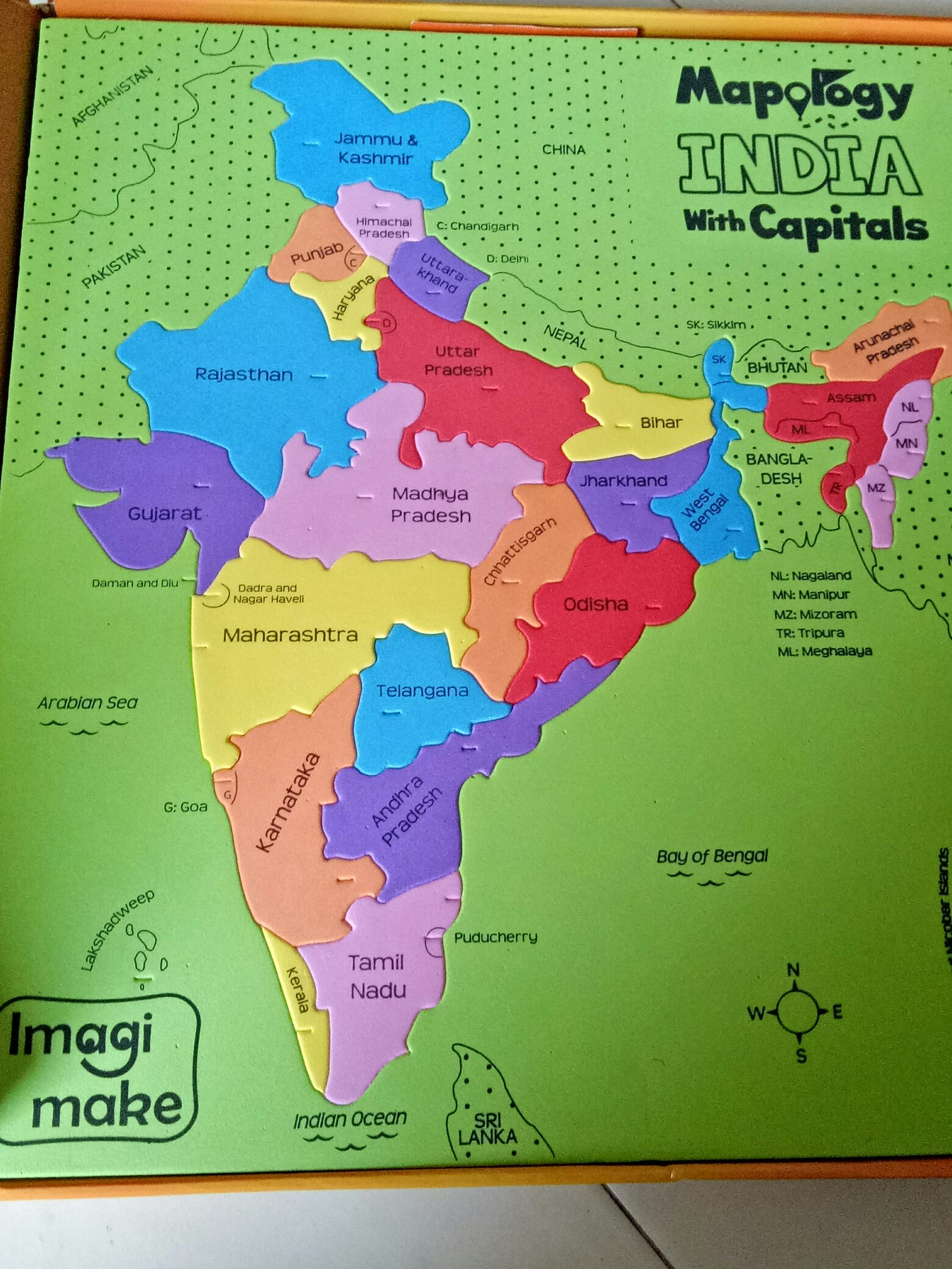 The new launch: Mapology - India with Capitals – Imagimake