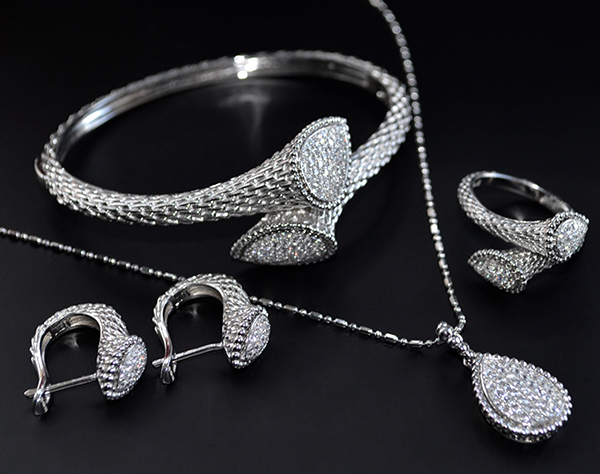 Sterling Silver bridal jewellery