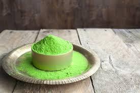 green organic powder