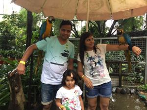 With my Hubby and Angel