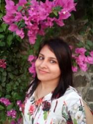 floral selfie