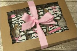 zebra print gift wrapping