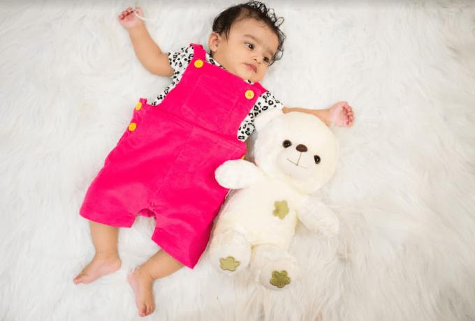 Nino Bambino 100% Organic Cotton Multi Color Dungaree Set For Baby Boy