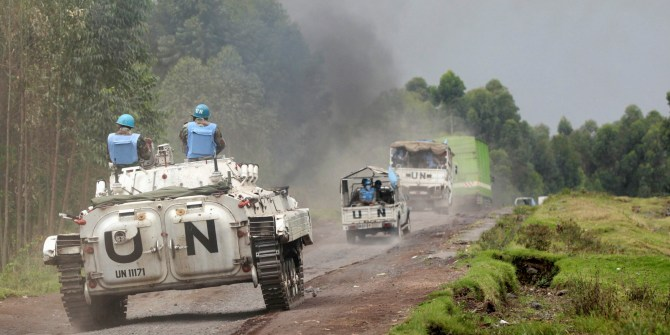 UN troops patrolling Goma in the Democratic Republic of Congo