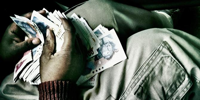 Money in Johannesburg, South Africa