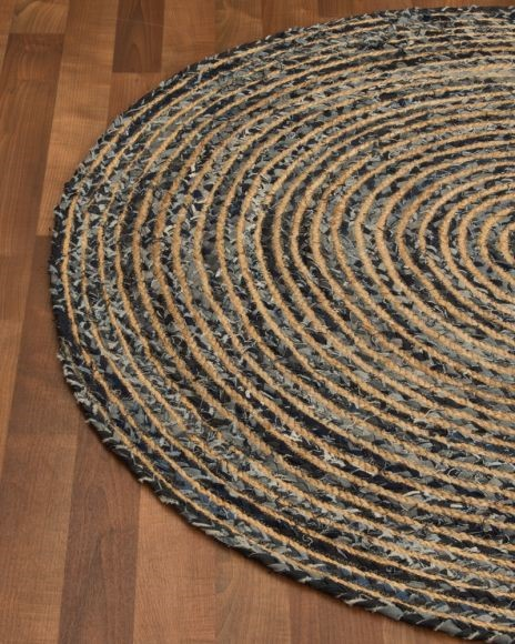 essence cotton jute round rug