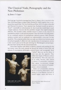 James Cooper's Article in American Arts Quarterly noting Sabin Howard & Traci L. Slatton